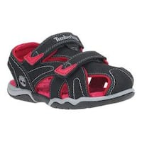 Children's Timberland Adventure Seeker Closed Toe Sandal Youth Black/Red Synthetic