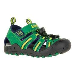 Children's Kamik Crab Closed Toe Sandal Green Synthetic Leather