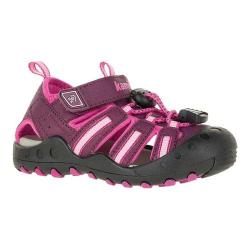 Children's Kamik Crab Closed Toe Sandal Plum Synthetic Leather (More options available)