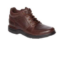 Men's Rockport Eureka Plus Ankle Boot Dark Brown Leather