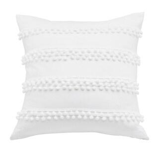 Trina Turk Pom Pom Ivory Throw Pillow