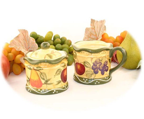 Tuscan Collection Sugar Bowl and Creamer