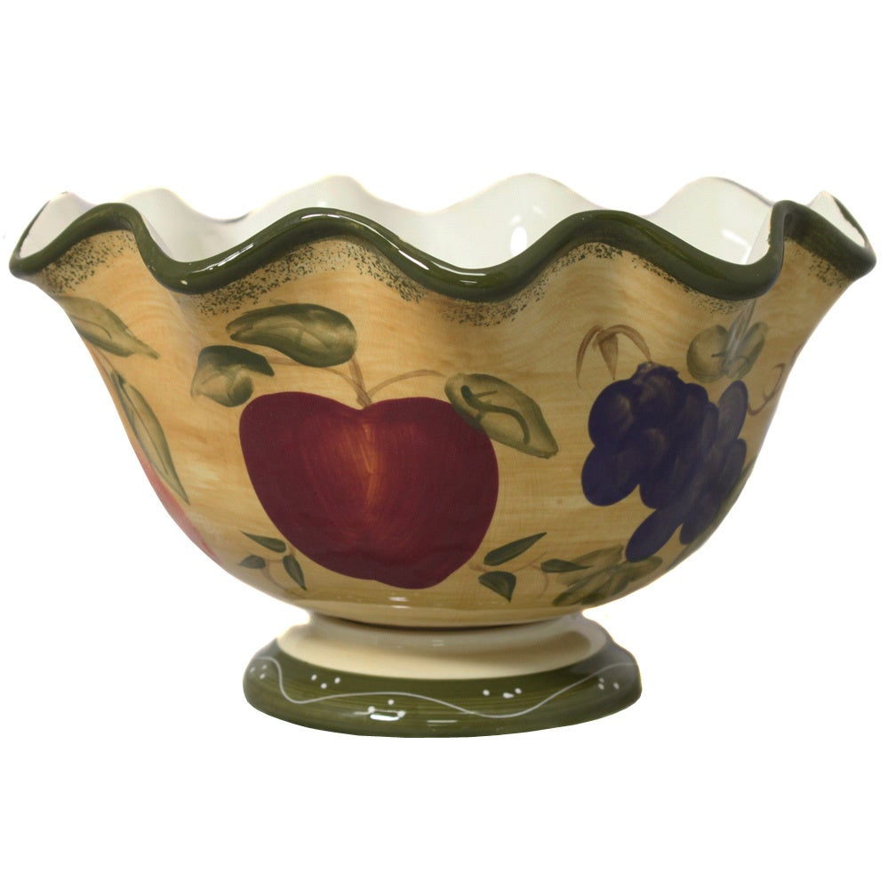 TUSCAN Collection Hand-painted Fruit Bowl (Tuscan Collect...