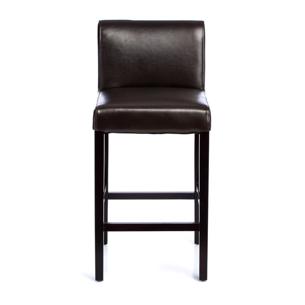 Cosmopolitan Dark Brown Leather Counter Stools (Set of 2) - Free Shipping Today - Overstock.com - 10722692  sc 1 st  Overstock.com & Cosmopolitan Dark Brown Leather Counter Stools (Set of 2) - Free ... islam-shia.org