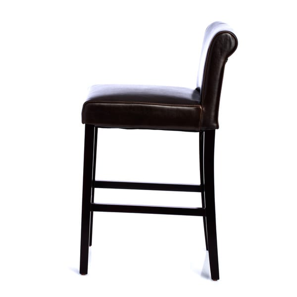 Black Leather Counter Stools Part - 22: Cosmopolitan Dark Brown Leather Counter Stools (Set Of 2) - Free Shipping  Today - Overstock.com - 10722692