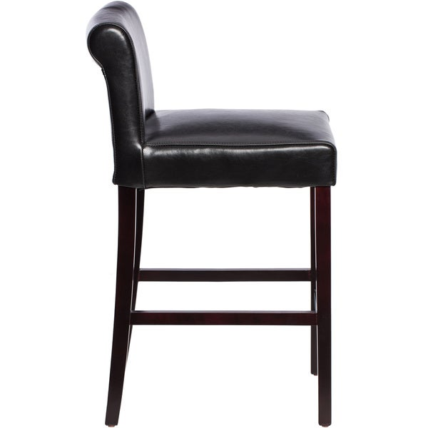 Cosmopolitan Black Leather Counter Stools (Set of 2) - Free Shipping Today - Overstock.com - 10722693  sc 1 st  Overstock.com & Cosmopolitan Black Leather Counter Stools (Set of 2) - Free ... islam-shia.org