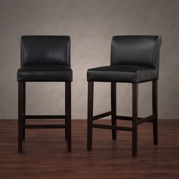 Lovely Black Leather Counter Stools Part - 7: Cosmopolitan Black Leather Counter Stools (Set Of 2) - Free Shipping Today  - Overstock.com - 10722693
