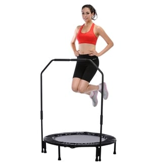 Sunny Health & Fitness No. 023B 40-inch Foldable Trampoline With Bar