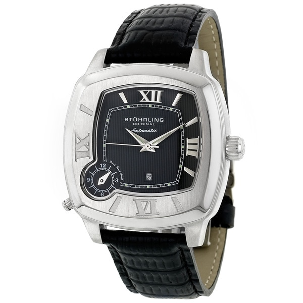 Stuhrling Original Piattino Quadrato Dual Time Zone Watch