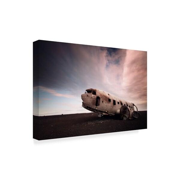 Nina Papiorek 'Iceland Plane Wreck' Canvas Art
