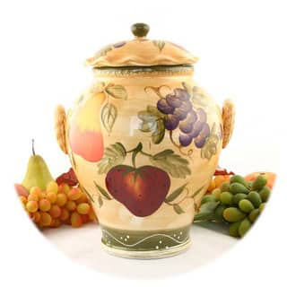 Tuscan Collection Hand-painted Cookie Jar|https://ak1.ostkcdn.com/images/products/2506127/P10725175.jpg?impolicy=medium