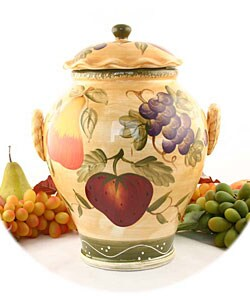 Tuscan Collection Hand-painted Cookie Jar
