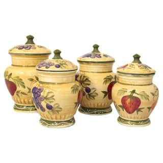 Tuscan Collection Deluxe 4-piece Canister Set|https://ak1.ostkcdn.com/images/products/2506189/2506189/Tuscan-Collection-Deluxe-4-piece-Canister-Set-P10725250.jpg?impolicy=medium