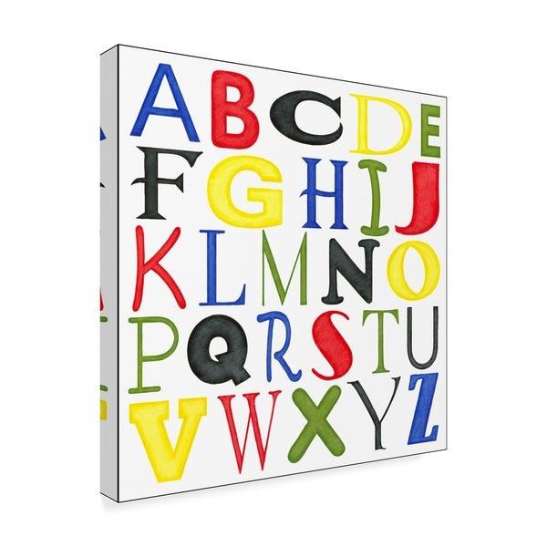 Shop Megan Meagher U0027Kids Room Lettersu0027 Canvas Art   On Sale   Free Shipping  Today   Overstock   25064089