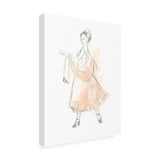 June Erica Vess 'Blush And Grey Fashion Iv' Canvas Art