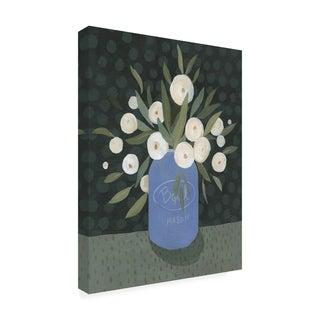 Emma Scarvey 'Mason Jar Bouquet Ii' Canvas Art