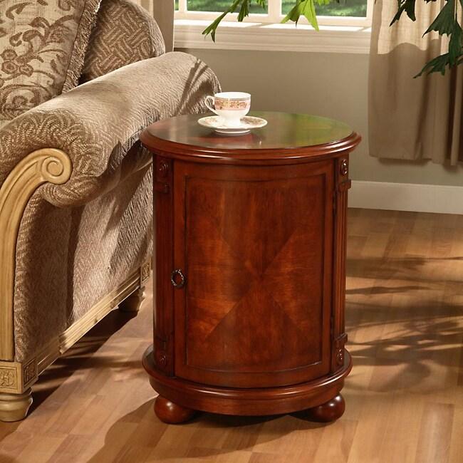 Copper Grove Birch Drum Table
