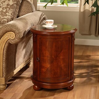 Copper Grove Birch Drum Table