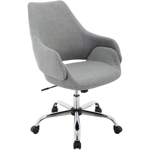 """Hanover Everson 17.75-20.75"""" Gas Lift, Wheeled Office Chair in Gray"""