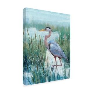 Tim Otoole 'Marsh Heron Ii' Canvas Art