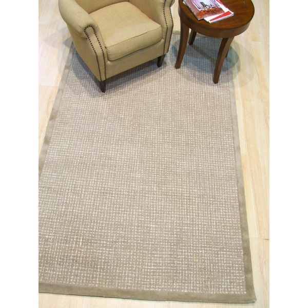 "Hand-tufted Timothy Light Brown Wool, Rug - 7'9"" x 9'9"""