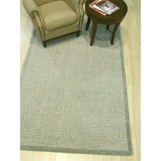 Hand-tufted Timothy Khaki Wool, Rug - 5' x 8'