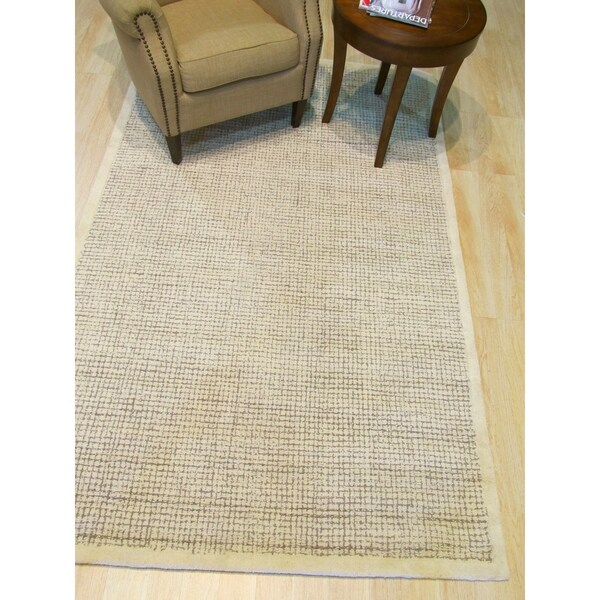 Shop Hand Tufted Timothy Ivory Wool Rug 8 9 Quot X 11 9