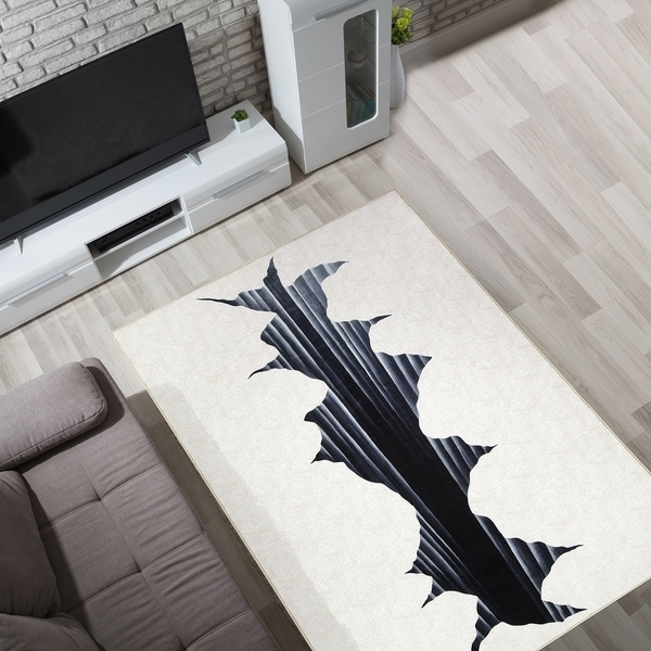Shop 3d Optical Illusion Cracked Hole Nylon Non Slip Indoor Outdoor