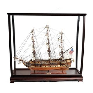USS Constitution Large With Table Top Display Case
