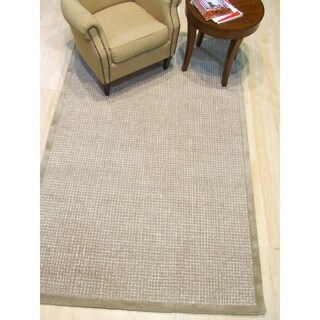 Hand-tufted Timothy Light Brown Wool, Rug - 5' x 8'