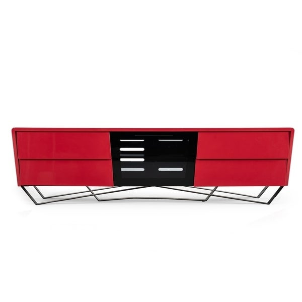 Nova Domus Max Modern Red TV Stand