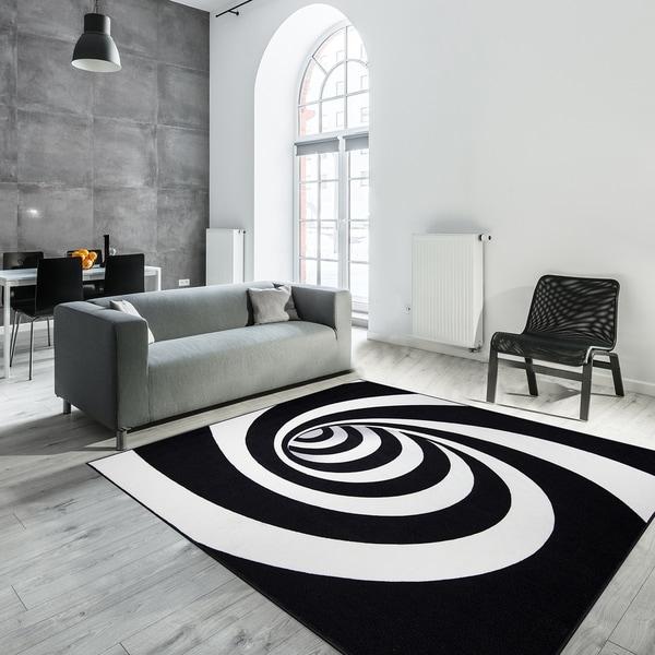 Shop 3d Optical Illusion Black White Nylon Spiral Hole Non