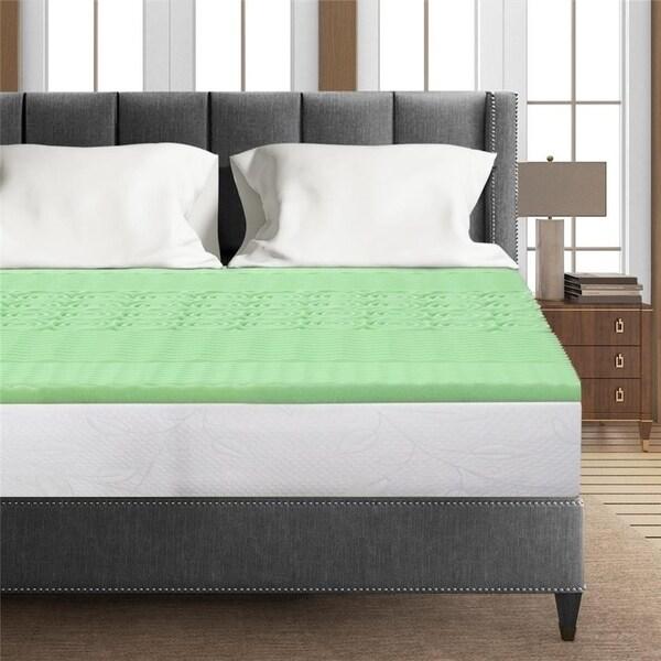 Shop 1 5 Inch 5 Zone Memory Foam Bed Topper Aloe Infused