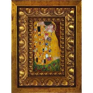 Gustav Klimt 'The Kiss' (Full View) Pre-Framed Miniature Print