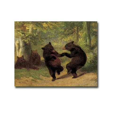 Dancing Bears by William Beard Gallery Wrapped Canvas Giclee Art (12 in x 16 in, Ready to Hang) - Multi-color