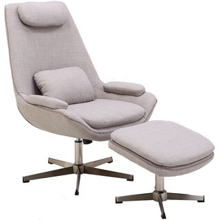 Shop Leisuremod Zane Modern Lounge Chair And Ottoman
