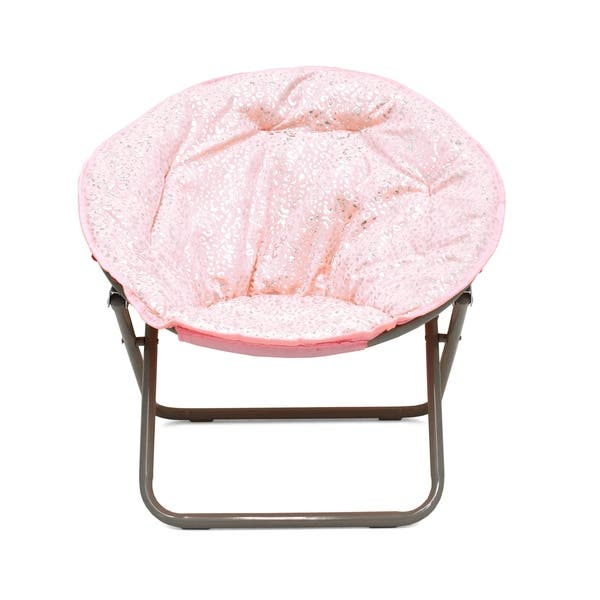 Admirable Shop Faux Fur Foil Cheetah Kids Saucer Chair On Sale Ocoug Best Dining Table And Chair Ideas Images Ocougorg