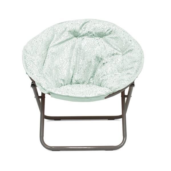 Marvelous Shop Faux Fur Foil Cheetah Kids Saucer Chair On Sale Pabps2019 Chair Design Images Pabps2019Com