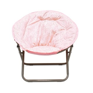 Faux Fur Foil Cheetah Kids Saucer Chair