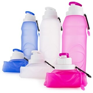 Miami CarryOn Foldable Silicone Bottle, 20fl oz, BPA Free, FDA Approved
