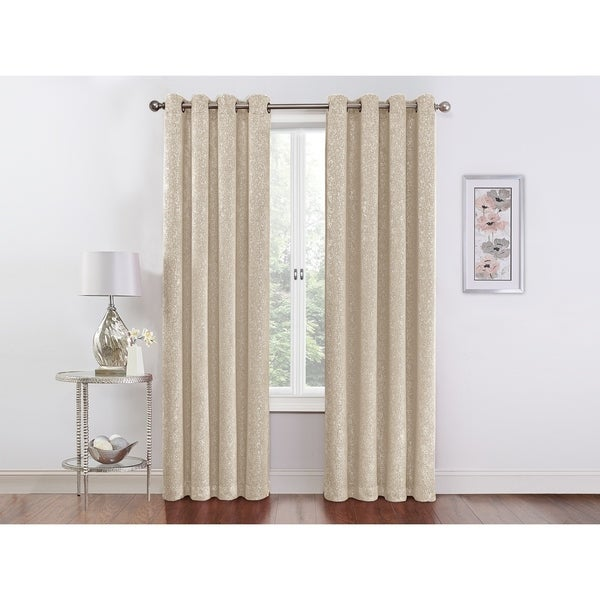 Regal Home Collections Sadie Blackout 84-inch Grommet Top Curtain Panel Pair - 104 w x 84 l inches