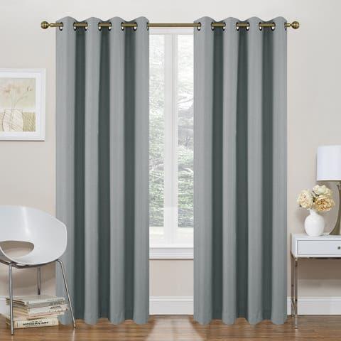 Marlene Room Darkening Foamback Window Curtain Panel 2-Pack or 4-pack