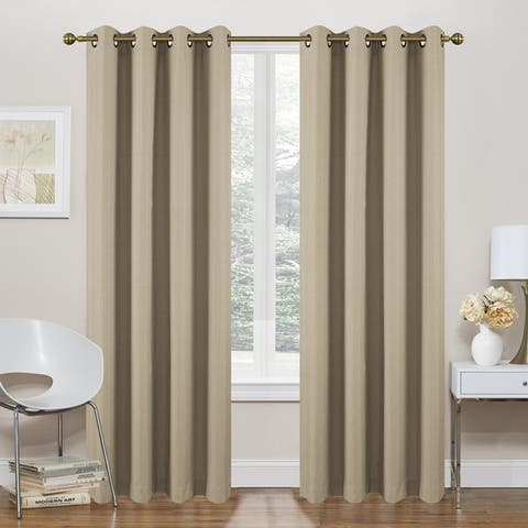 "Marlene Room Darkening Foamback Window Curtain Panel 2-Pack or 4-pack - 54"" w x 84"" l"