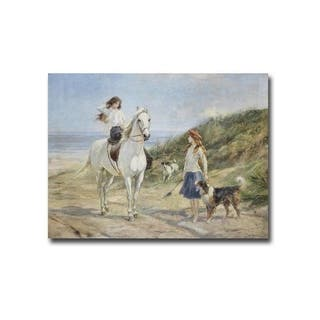 Holiday Time, 1933 by Heywood Hardy Gallery Wrapped Canvas Giclee Art (18 in x 24 in, Ready to Hang) - Multi-color