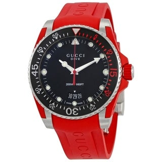 Link to Gucci YA136309 Men's Dive Black Quartz Watch Similar Items in Men's Watches
