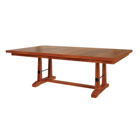 "Carla Elizabeth Double Pedestal 6 FT Dining Table W/ One 18"" Butterfly Leaf"