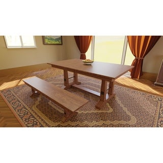 """Carla Elizabeth Double Pedestal 6 Foot Dining Table w/Two 18"""" Butterfly Leaf Extensions"""