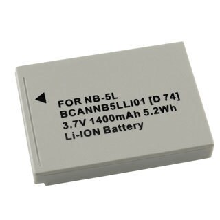 INSTEN Replacement NB-5L Battery for Canon SD700 800 900