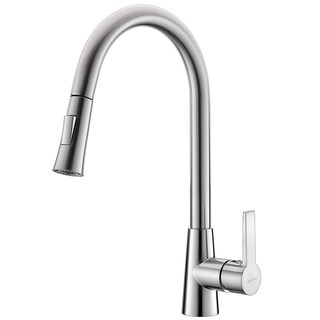 Danube Single Handle Pull Out Kitchen Faucet - 16.1x11