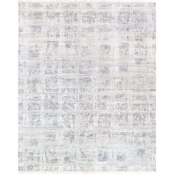 Pasargad Modern Collection Hand-Knotted Bamboo Silk Area Rug- 8' X 10' - 8' x 10'